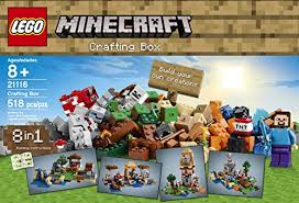 Minecraft Crafting Table Guide Amazon Com Lego Minecraft 21116 Crafting Box Toys U0026 Games