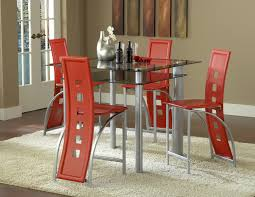 red pub table and chairs astro pub table by bernards home gallery stores