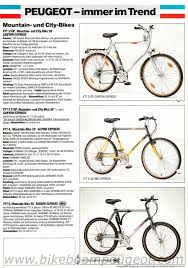 peugeot mountain bike peugeot 1988 germany brochures
