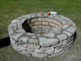 Stone Fire Pit Kit by Firepits Decoration Refractory Mortar Home Depot What To Put In