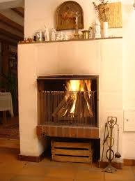 simple fireplace europe applied inside elegant room with orange