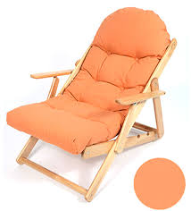 Ergonomic Folding Chair Soft Folding Foldable Wooden Reclining Chair Simple Ergonomic Lazy