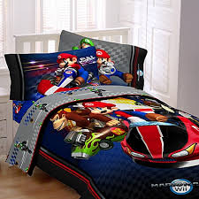 Mario Bedding Set Mario Brothers Mario Kart Wii Comforter Set Bed Bath