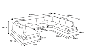 hauteur canapé canapé d angle panoramique en cuir lowing avec luminaire
