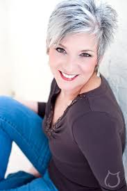 pictures of womens short dark hair with grey streaks pinteres