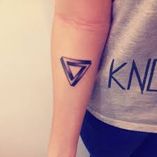 penrose triangle tattoo pictures to pin on pinterest tattooskid