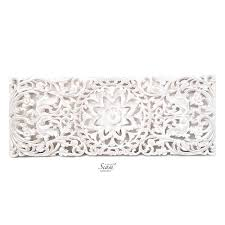 floral carved wooden wall panel siam sawadee
