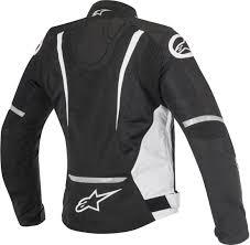 black motorcycle jacket alpinestars tech air alpinestars stella t jaws v2 air lady