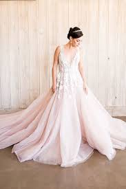 blush wedding dress styling a modern bridal tiara with a blush wedding dress hey