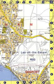 Hampshire England Map by Daedalus Royal Naval Air Station Street Map At Lee On Solent