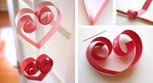 Heart Home Decor Paper Heart Garland In Crafts For Decorating And Home Decor