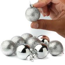 mini silver ornaments ornaments