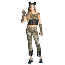 Girls Cheetah Halloween Costume Amazon Cheetah Cat Teen Costume Size Teen 14 16 Clothing