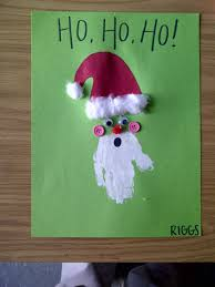 handprint santa claus preschool crafts pinterest