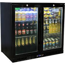 under bench integrated glass door beer and wine fridges