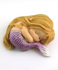 Mermaid Garden Decor This Hand Painted Sleeping Little Mermaid Garden Figurine Is