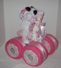 diaper cake 4 wheeler quad motorcycle baby shower baby gift