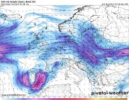 Jet Stream Forecast Map Severe Weather Outbreak Across East Central Spain Tomorrow July