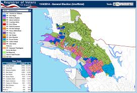 Ruby Map Registrar U0027s Map Gives Nuanced Glimpse Into Oakland Mayoral Results