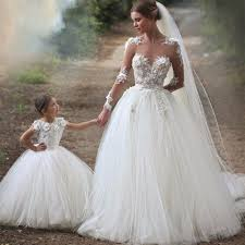 vintage wedding dress with sheer long sleeves ball gown appliques