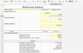 Cost Analysis Excel Template Even Analysis Free Templates