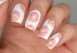 sweet pink white colored calgel nail art design idea cool gel