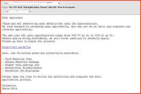 sample email for job application sample email looking for a job