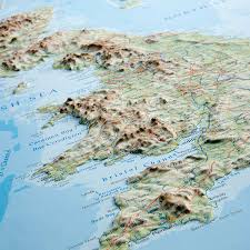 Map Of The British Isles Relief Map Of Great Britain Norwegians Gravitate Towards Hills