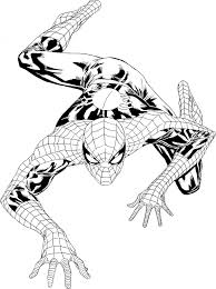 spiderman coloring printable colouring pages coloring