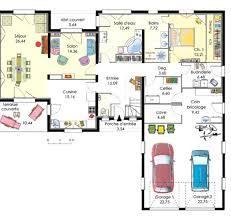 plan de maison 4 chambres avec age plan de maison plain pied avec garage plan gratuit maison bois 4