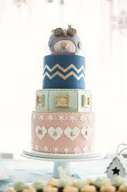 owl cake winter birthday party with owl cake popsugar