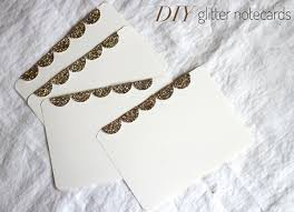 weekend diy glitter note cards the stripe