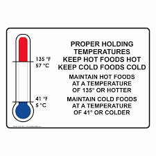 proper holding temperatures sign nhe 15641 food prep kitchen safety