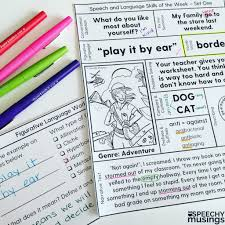 one page language lessons speech therapy printables for upper