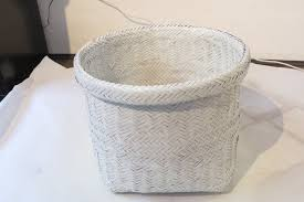 rubbish diy recycled wicker basket the crafterpreneur