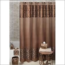 Bathroom Shower Curtain Set Brown Bathroom Shower Curtains And White Curtain