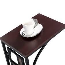 amazon com tangkula coffee tray side sofa table ottoman couch