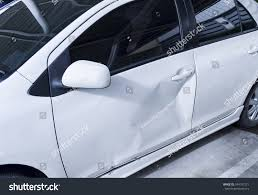 toyota white car white car body get damage on stock photo 344197271 shutterstock