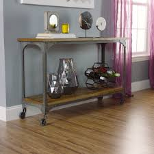 Console Table Used As Dining Table Wood And Metal Aiden Console Table World Market