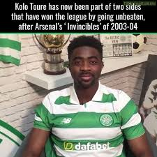 Kolo Toure Memes - kolo toure is invincible with arsenal and now celtic soccer memes