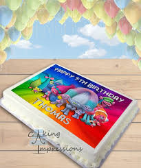 trolls edible image sheet cake topper