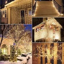 star 300 led window curtain string light christmas wedding party