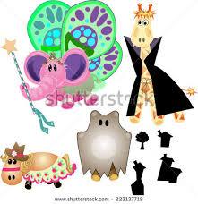 stuffed animals costumebean bag halloweeneach piece stock vector