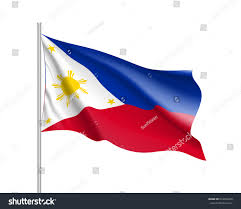 Flag Philippines Picture Waving Flag Philippines Republic Illustration Asian Stock Vector
