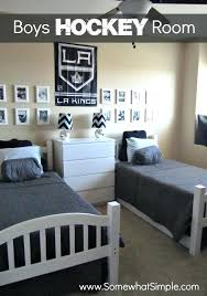 hockey bedrooms hockey bedroom decor hockey room decor ideas for boys entrancing