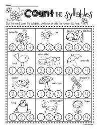 free syllable worksheets worksheets