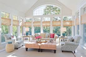 sunroom with bamboo blinds great windows for your sunroom