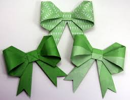 Origami Gift Wrapping Green Origami Gift Wrapping Bows Via Etsy Education Pinterest