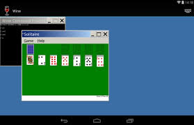 wine for android wine on android update windows solitaire running on android