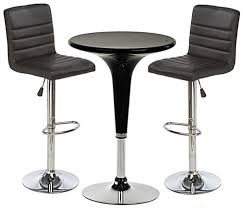 Gas Lift Bar Table Black Gas Lift Chair And Table Set Includes 2 Cushioned Stools